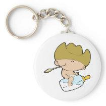 cowboy baby keychain