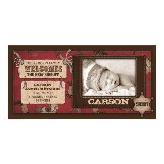 Cowboy Baby Photo Card 2