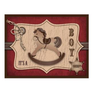 Cowboy Baby Postcard