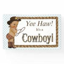 Cowboy Baby Shower Banner
