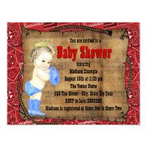 Cowboy Baby Shower Card
