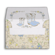 Cowboy Baby Shower Country Western Blue Boy Envelope