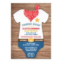Cowboy Baby Shower Invitation, Cow Print, Paisley Invitation