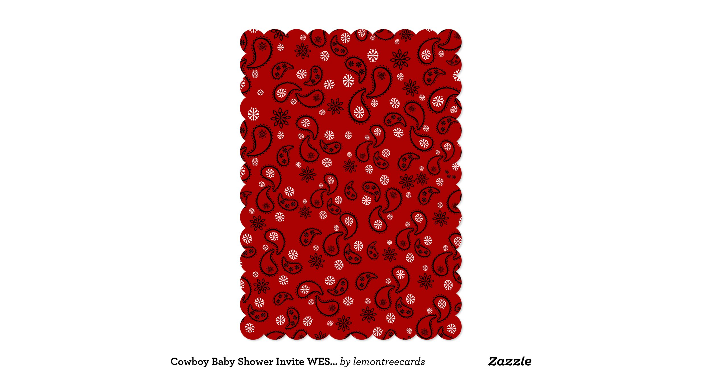 Red Bandana Bathroom Decor: Red bandana cowboy baby shower ...