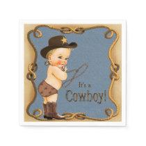 Cowboy Baby Shower Paper Napkins