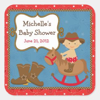 Cowboy Baby Shower Sticker
