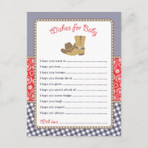 Cowboy Baby Shower Wishes for Baby Card