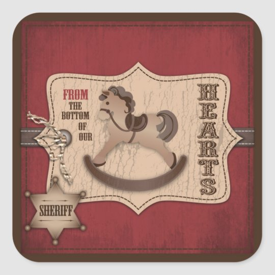 Cowboy Baby Square TY Sticker