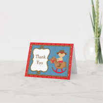 Cowboy Baby Thank You Card