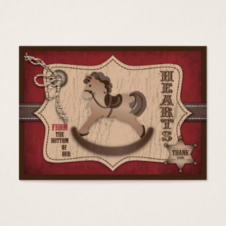 Cowboy Baby TY Gift Tag