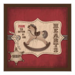Cowboy Baby TY Square 5.25x5.25 Square Paper Invitation Card