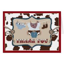 Cowboy Baby Western Thank You Card