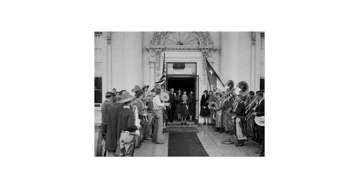 Cowboy Band at White House, 1920s Poster | Zazzle.com 1920 White House