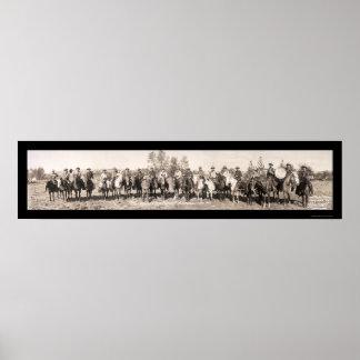 Cowboy Band Oregon Photo 1911 Poster