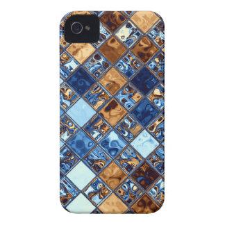 Cowboy Bandana Blue Mosaic Pattern Original Art iPhone 4 Covers