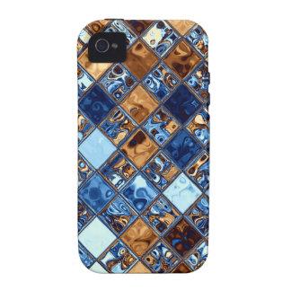 Cowboy Bandana Blue Mosaic Pattern Original Art Vibe iPhone 4 Cases