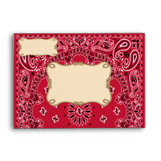 Cowboy Bandana Style A6 Envelopes
