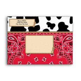 Cowboy, Bandana Style A6 Envelopes