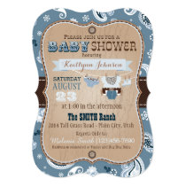 Cowboy Bandanna Jumper Baby Shower Card
