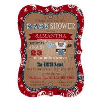 Cowboy Bandanna Jumper Baby Shower Invitation