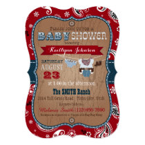 Cowboy Bandanna Jumper Baby Shower Invitation