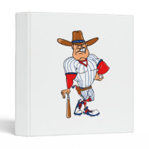 Cowboy baseball player binder