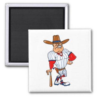 Cowboy baseball player magnet