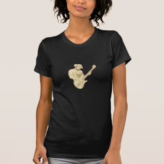 Cowboy Bass Guitar Isolated Drawing T-Shirt