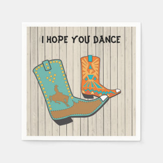 Cowboy BBQ and Square Dance special order Napkin