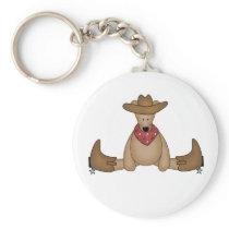 Cowboy Bear Keychain