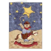 Cowboy Bear Valentine Card