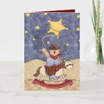 Cowboy Bear Valentine Holiday Card