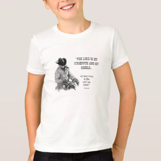 COWBOY: BIBLE: STRENTGH, SHIELD: PENCIL REALISM T-Shirt