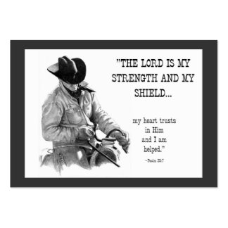 COWBOY, BIBLE TEXT: PENCIL: ACEO SIZE LARGE BUSINESS CARDS (Pack OF 100)