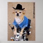 Cowboy Biker Dog Posters