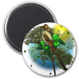 Cowboy Bird 2 Inch Round Magnet