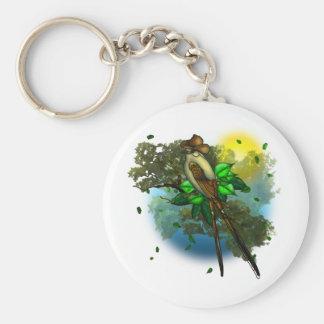 Cowboy Bird Basic Round Button Keychain