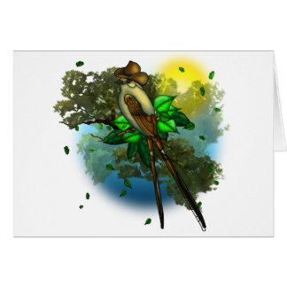 Cowboy Bird Card