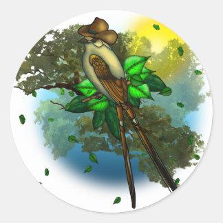 Cowboy Bird Classic Round Sticker