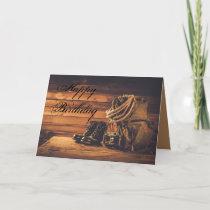 Cowboy Birthday Card