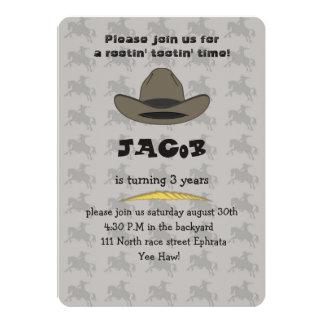 Cowboy Birthday Card Invitation for Boys