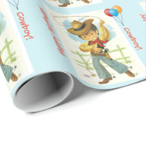 Cowboy Birthday Gift Wrap