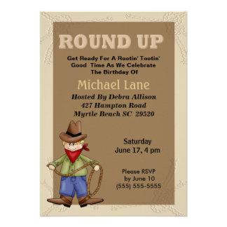 Cowboy Birthday Invitation