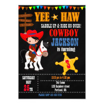 Cowboy birthday invitation Wild West Western party