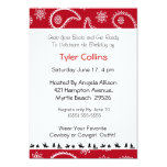 "Cowboy Birthday Invitations 5"" X 7"" Invitation Card"