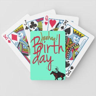 Cowboy Birthday JeeHaa Bicycle Playing Cards