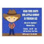 Cowboy Birthday Party 5x7 Paper Invitation Card