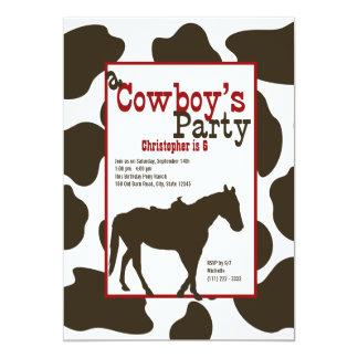 Cowboy Birthday Party Card