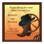 Cowboy Birthday Party Custom Invitation