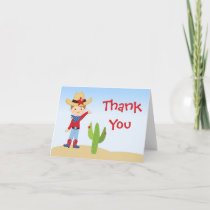 Cowboy Birthday Party Thank You Card